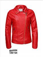 Шкіряні куртки для дівчаток оптом, Glo-Story, розміри 122/128-158/164р, арт. GPY-8059