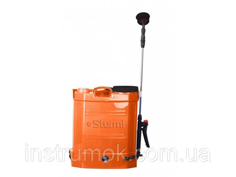 Опрыскиватель аккумуляторный садовый ранцевый 12 л, 12 В Sturm GS8212B