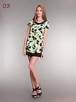 Платье туника трикотаж салатовое, фото 1