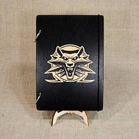 Скетчбук Witcher. Блокнот с деревянной обложкой Ведьмак., фото 1