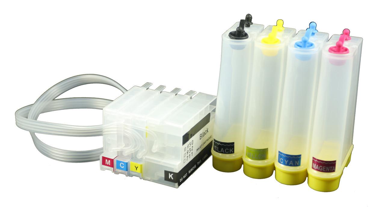 Система непрерывной подачи чернил (СНПЧ) Ocbestjet для HP DesignJet T120/125/130 с авточипами HP711
