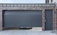 Ворота гаражные секционные с калиткой Alutech Classic торсионные пружины