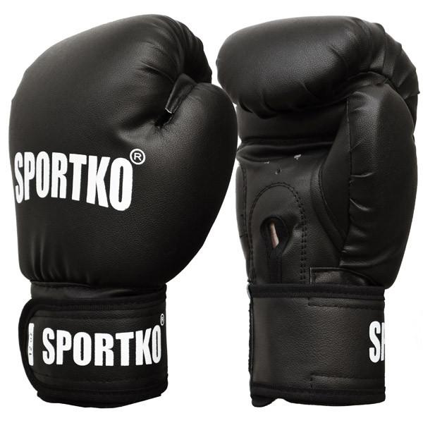 Боксерські рукавиці SPORTKO арт. ПД1-10-OZ  (унцій) чорні