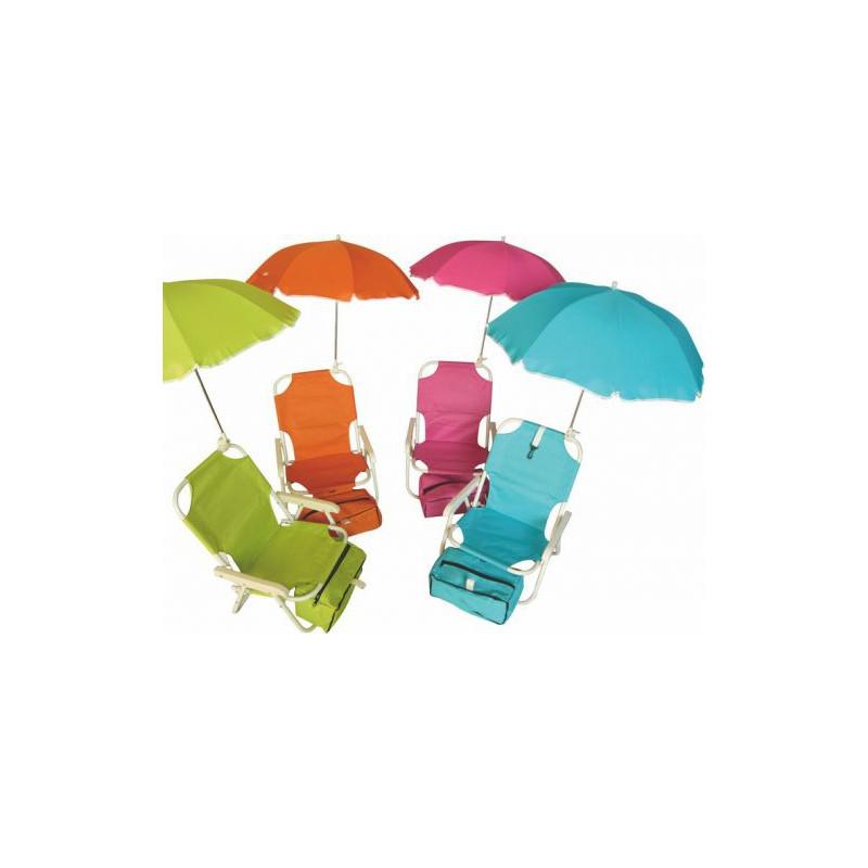Пляжное кресло с зонтиком для детей PATIO. Разные цвета.