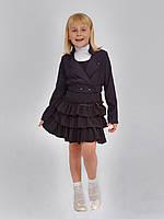 Пиджак школьный для девочки м-956 рост 122 синий, фото 1