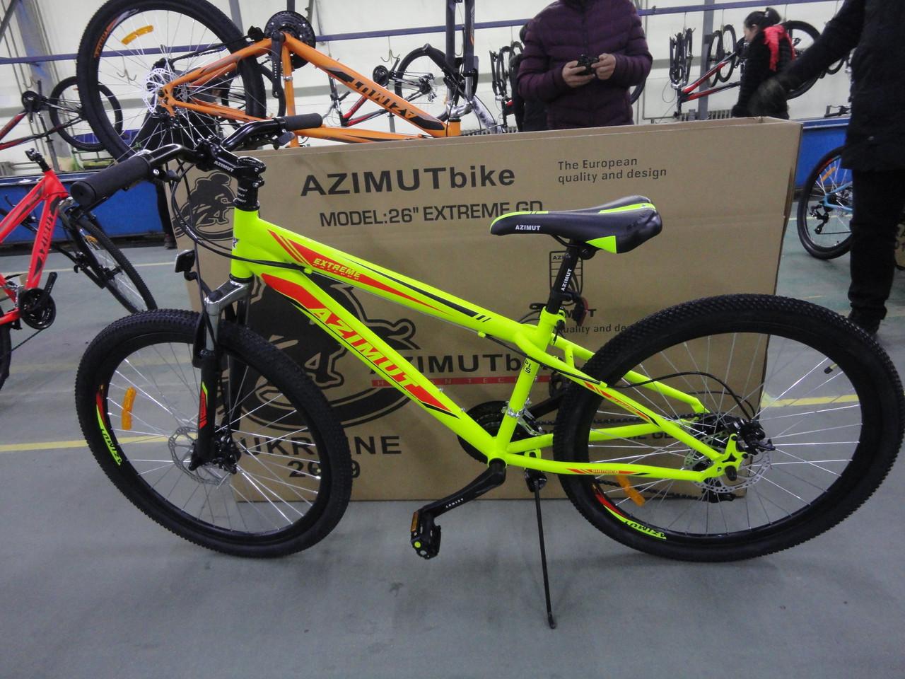 "Azimut Велосипед Azimut Extreme 26"" 14"" Yellow (FR/D/Extreme)"