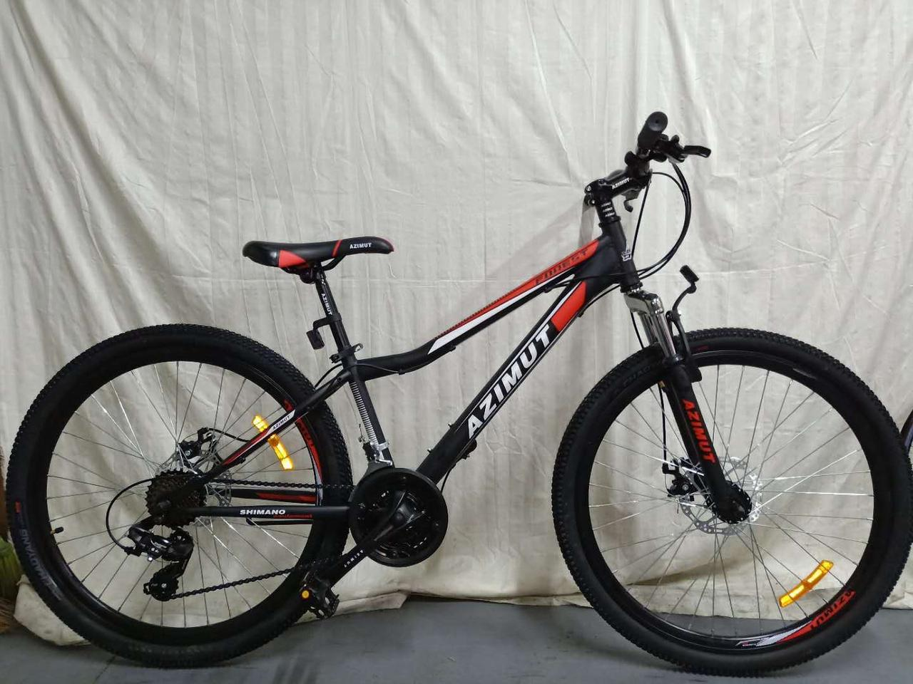 """Azimut Велосипед Azimut Forest 26"""" 13"""" Black / Red (FR/D/Forest)"""