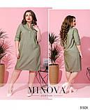 Платье – рубашка с декорированным нагрудным кармашком размеры с 50 по 60 , фото 3