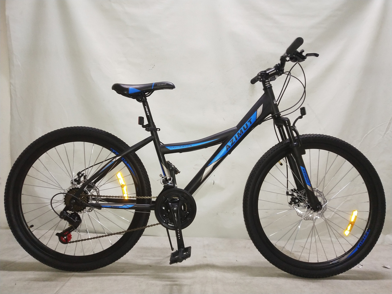 "Azimut Велосипед Azimut Navigator 24"" 16"" Black / Blue (FR/D/Navigator)"