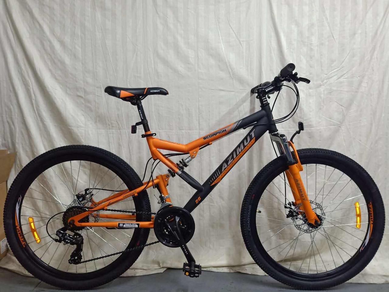 "Azimut Велосипед Azimut Scorpion 24"" 17"" Black / Orange (FR/D/Scorpion)"