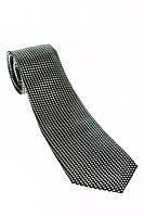 Галстук мужской принт мелкий квадрат 50PA0006-1 (Черный-серебро)