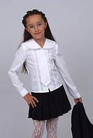 Блузка детская для девочек школьная М-577 рост 128 из сорочечной ткани, фото 1