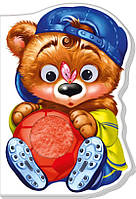 Картонна книжка-іграшка для малюків Ведмежатко (укр), Ранок (А393019У)