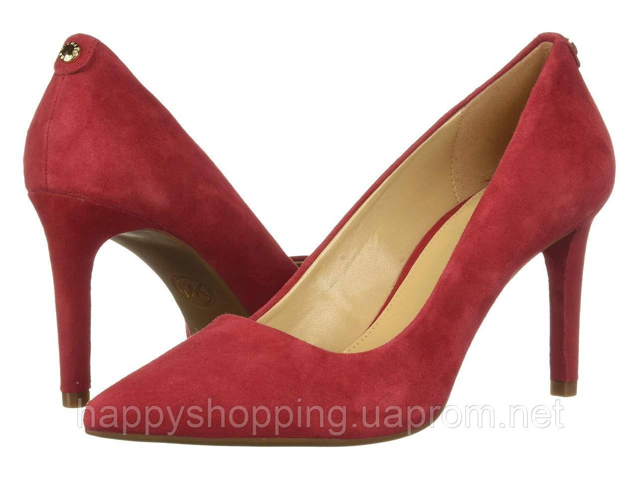 Женские оригинальные красные замшевые туфли Michael Kors