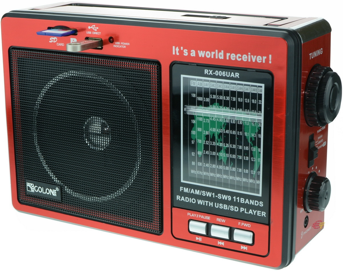 Радиоприемник RX 006 с USB разъемом и слот SD