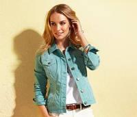 Куртка джинсовая женская мятная 44р