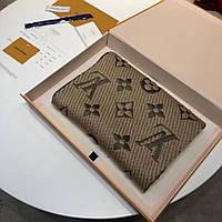 Мужской шарф Louis Vuitton Logomania Scarf Monogram Beige