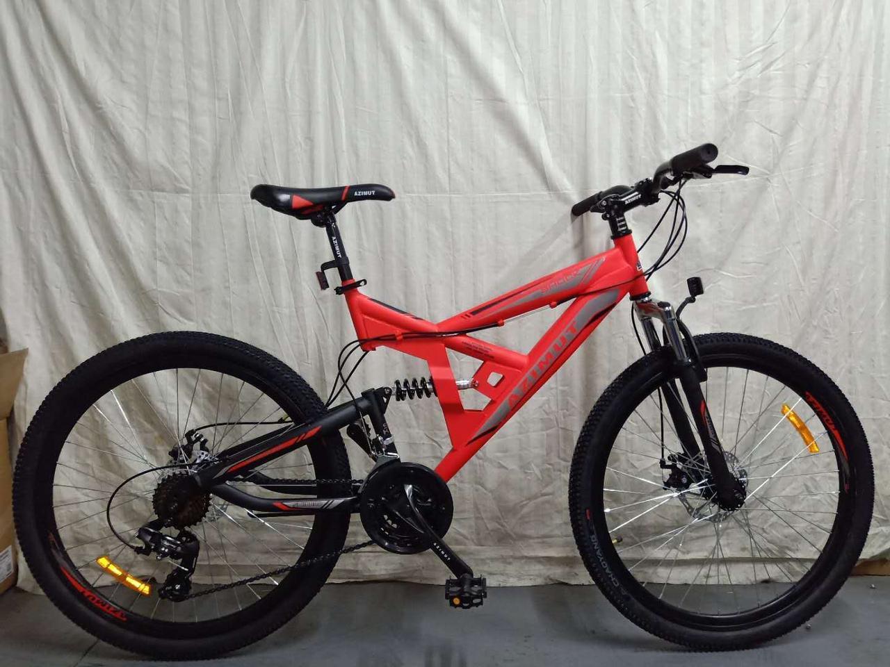 """Azimut Велосипед Azimut Shock 26"""" 18"""" Red (FR/D/Shock)"""