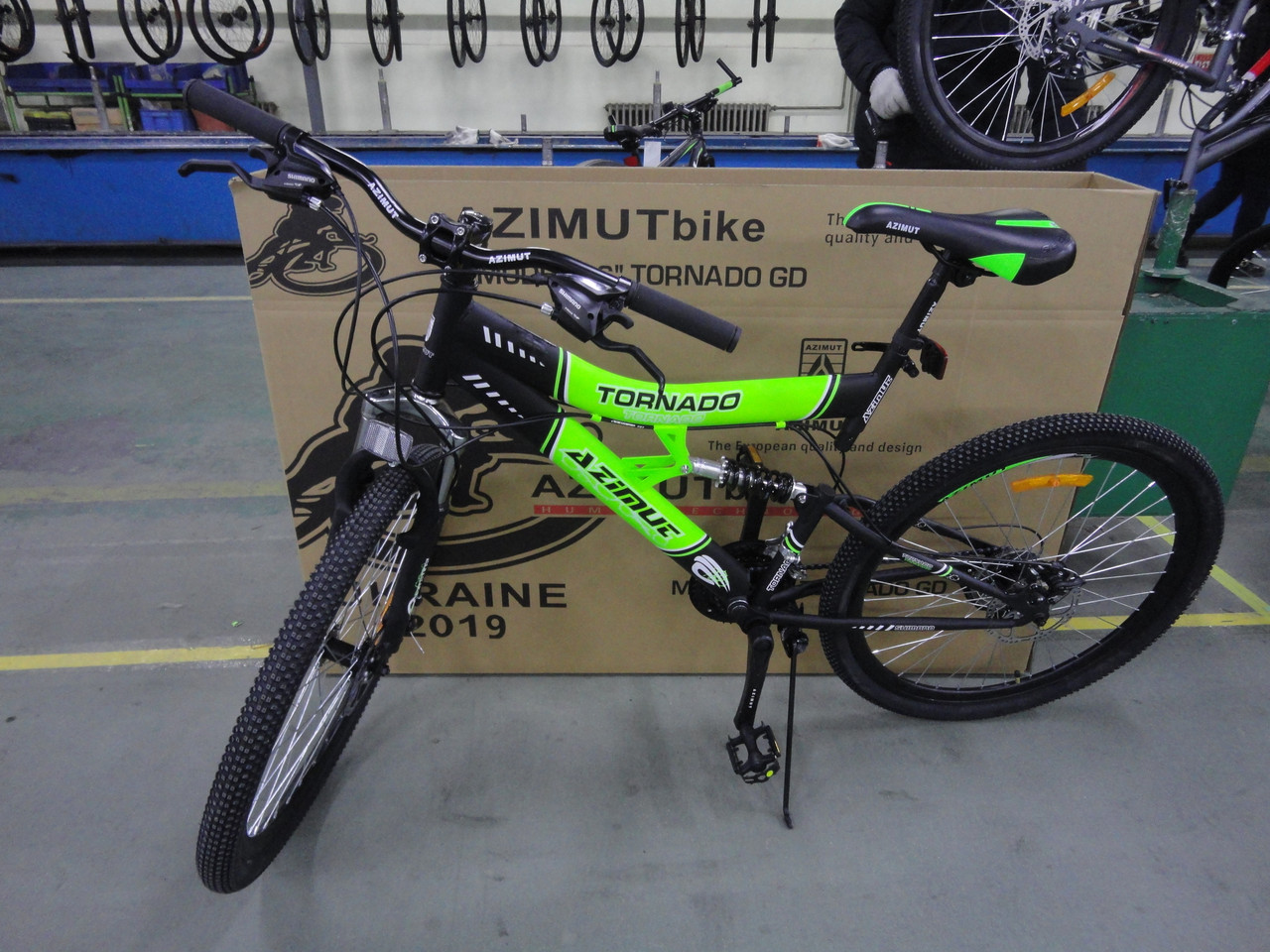 "Azimut Велосипед Azimut Tornado 24"" 17"" Black / Green (FR/D/Tornado)"