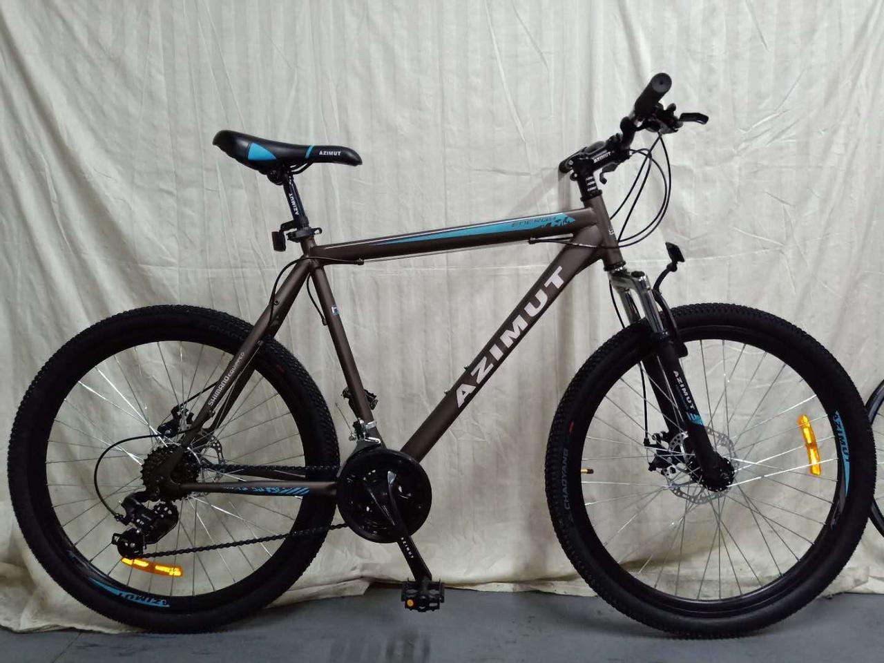 """Azimut Велосипед Azimut Energy 26"""" 21"""" Grey / Blue (FR/D/Energy)"""