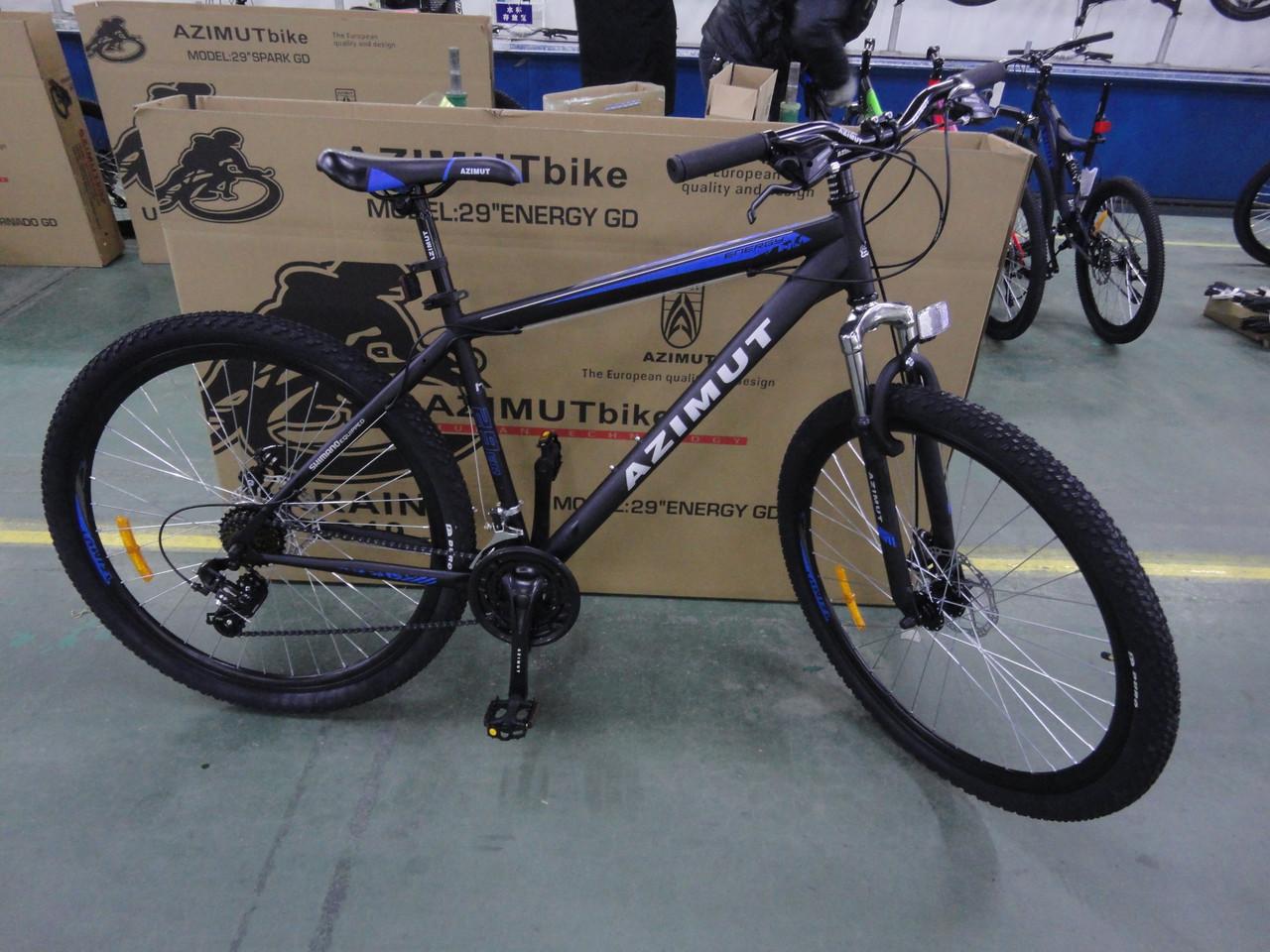 """Azimut Велосипед Azimut Energy 29"""" 19"""" Black / Blue (FR/D/Energy)"""