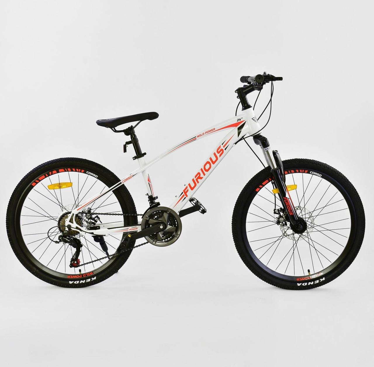 "Corso Велосипед Corso 24"" Furious White / Red (JYT 009 - 9983)"