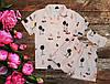 Женская атласная пижамка футболка шорты маска для сна