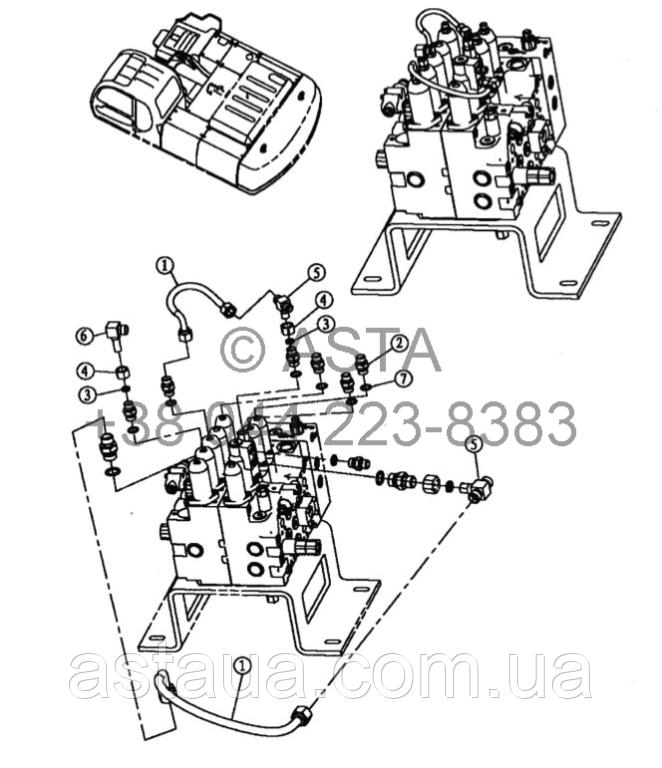 Проводка главного клапана 3 21 12200 00 31-2 на Jonyang 230E