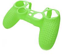 Силіконовий чохол NOMI Anti-slip до геймпаду PS4 Зелений (442080)