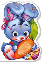 Картонна книжка-іграшка для малюків Зайчик (укр), Ранок (А393022У)