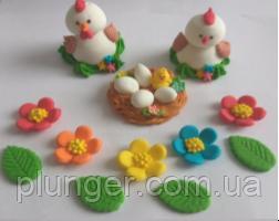 Пасхальный декор Курочка, петушок и гнездышко