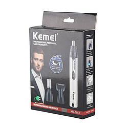 Триммер для носа, ушей, висков и шеи Kemei KM6651 3 в 1
