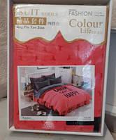 Постельное белье Suit series Colour в подарочной упаковке Евро Разные цвета