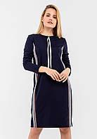 Женское с длинными рукавами и вертикальными вставками тесьмы  Modniy Oazis синий 90336, фото 1