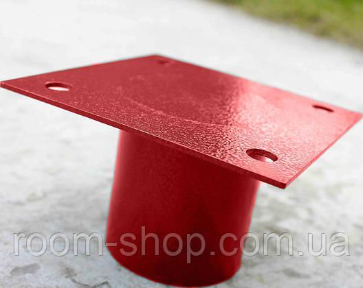 Оголовки (оголовники, пластини, фланці) до паль, опор діаметром 108 мм майданчик 150х150 мм (палі,палячи), фото 2