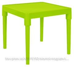 Пластиковый стол обеденный детский оливковый