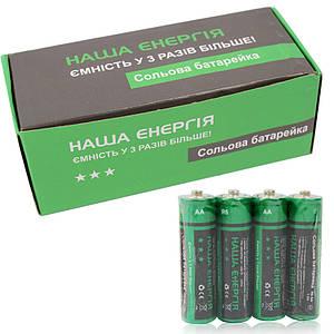 Батарейки АА Наша Энергия 1.5V зеленые 4 шт. 130108