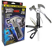 Многофункциональный Молоток с Набором Инструментов Bell+Howell Tac Tool 18 в 1