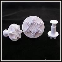 Плунжер  Снежинка 3 шт (кнопка)