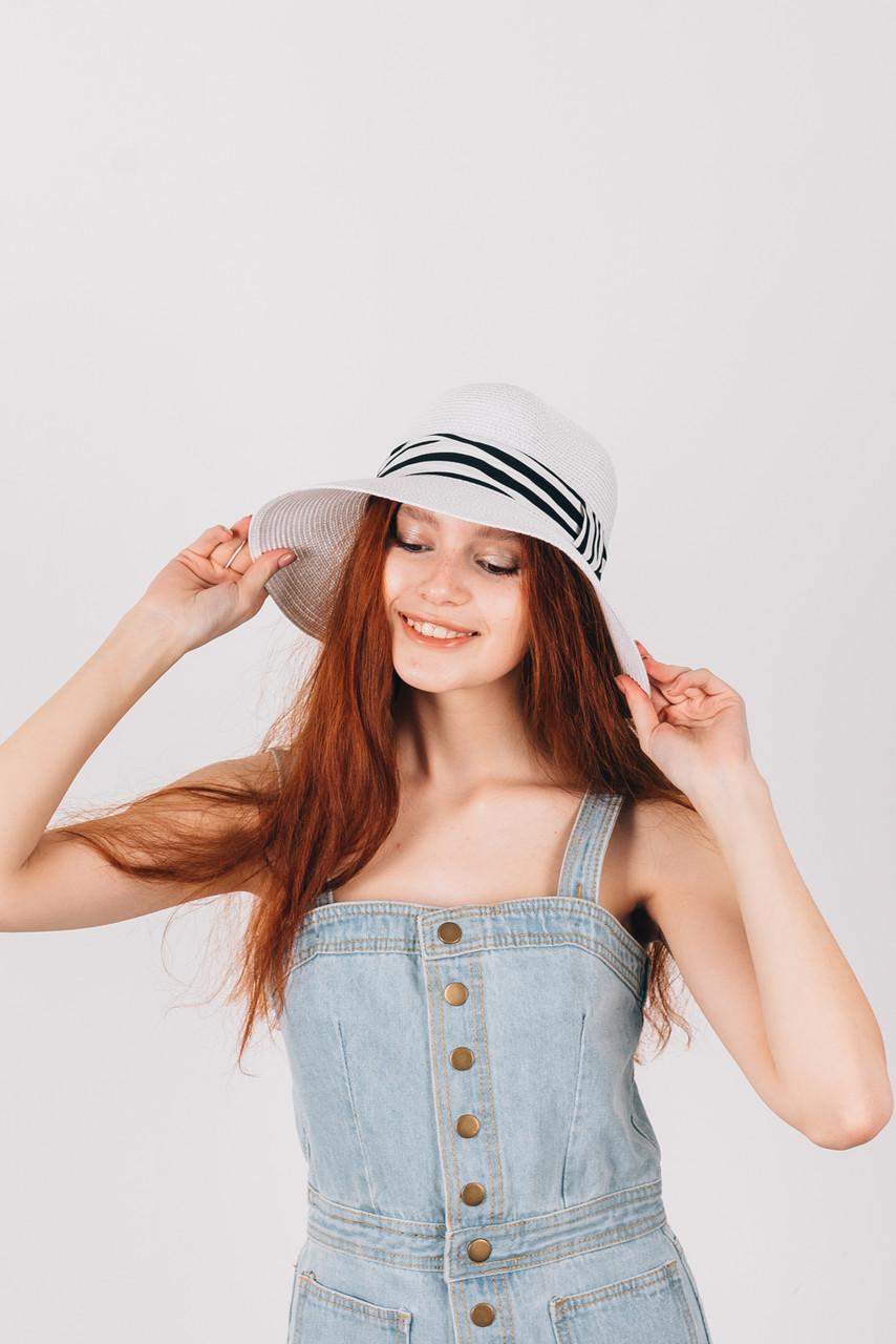 Шляпка слауч Сандра белая