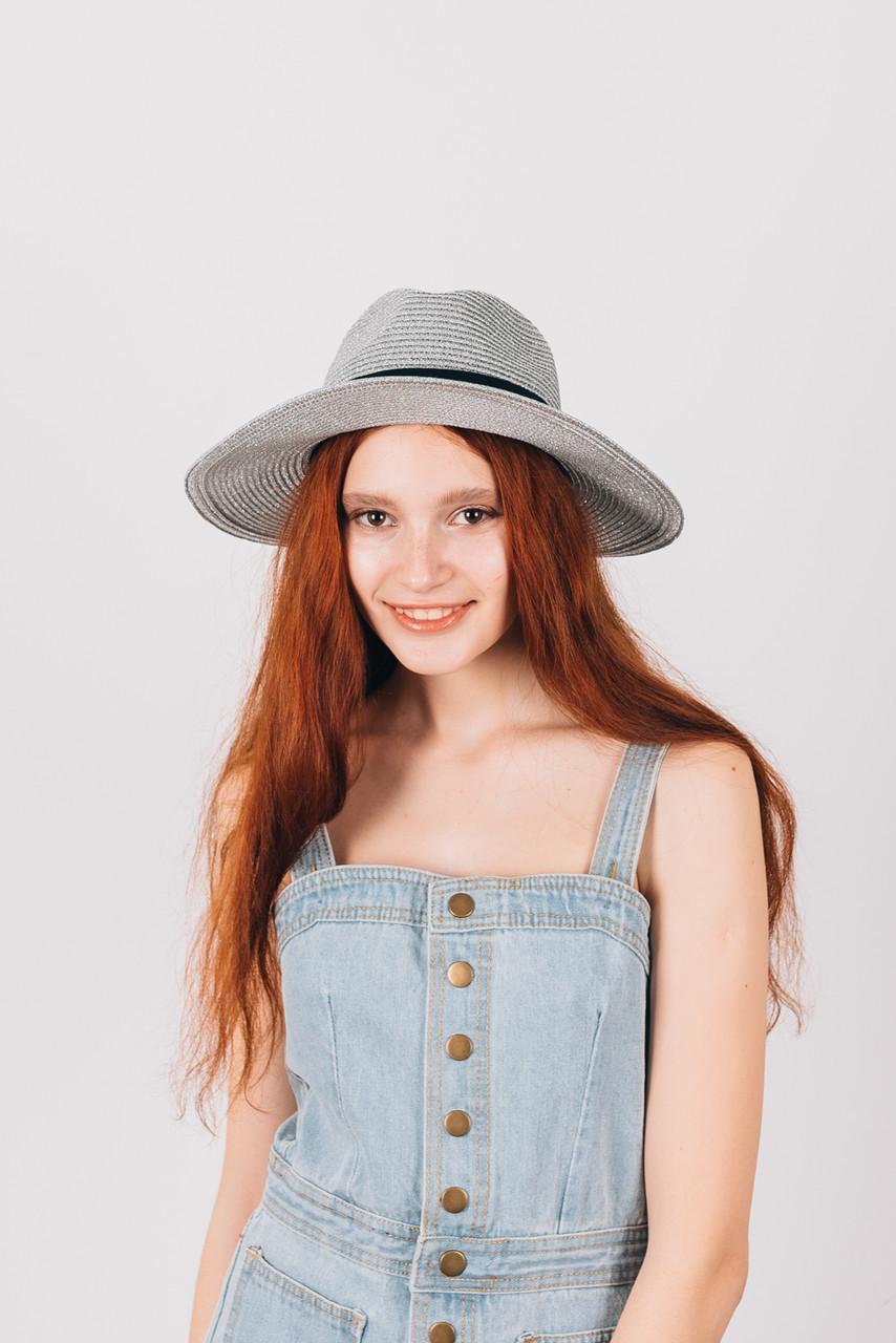 Шляпка федора Балисья серебряная