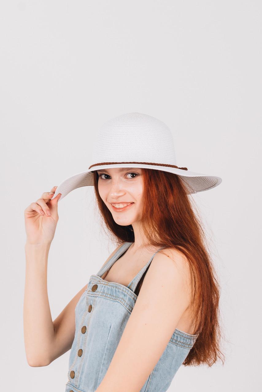 Шляпка широкополая Френсис белая