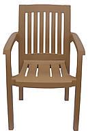 Пластиковое кресло для паба и кафе Базилик  бежевый