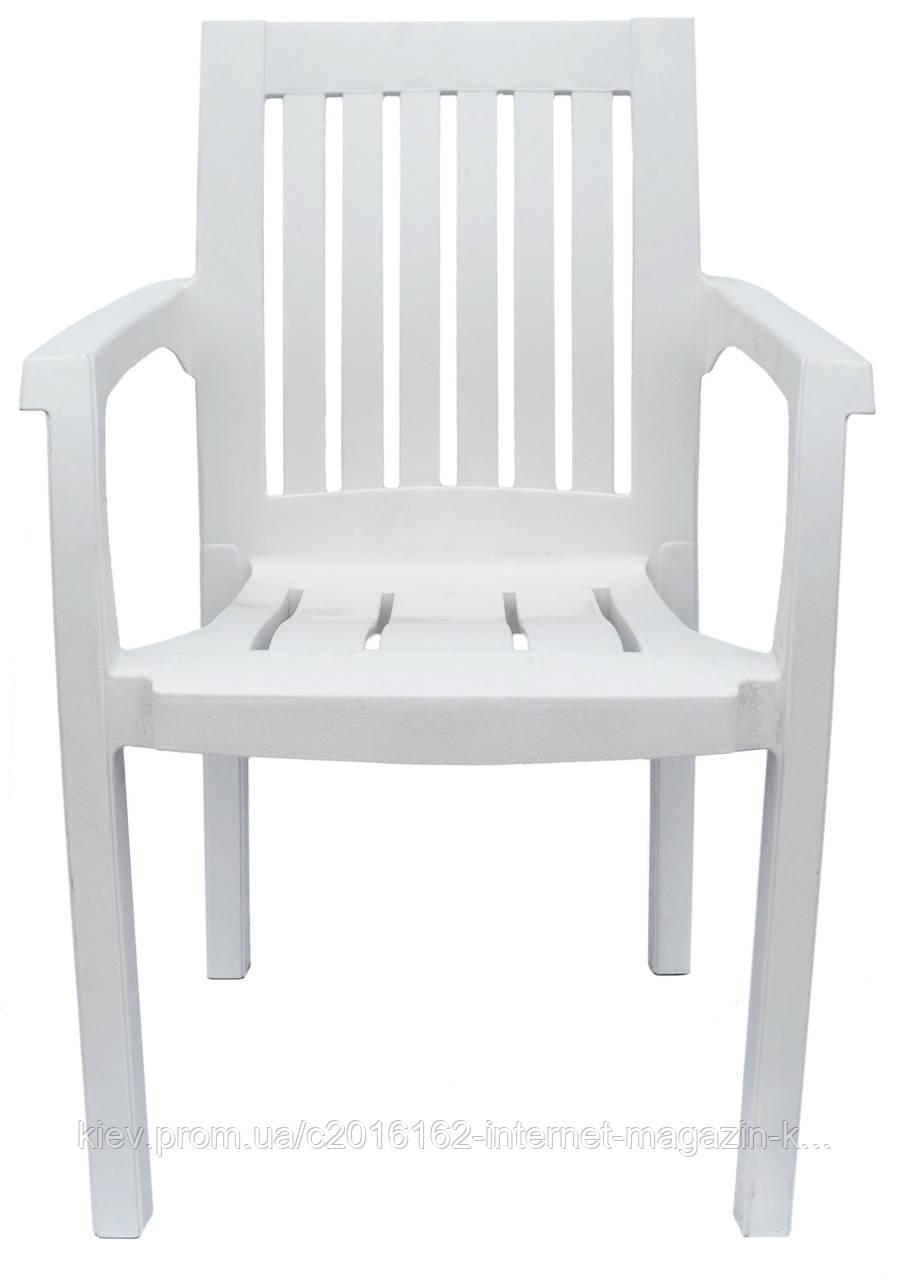 Пластиковое кресло для летнего кафе Базилик  белый