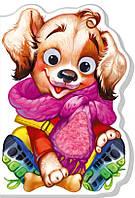 Картонна книжка-іграшка для малюків Песик (укр), Ранок (А393024У)