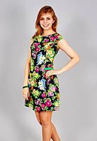 Молодежное платье Цветы р.44-46 V190-2