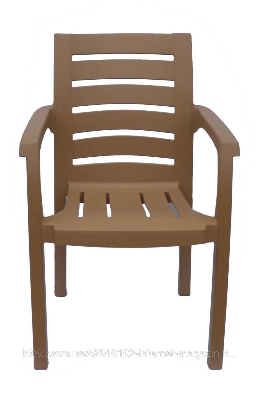 Пластиковое кресло  Жимолость  бежевое