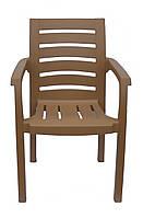 Пластиковое кресло  Жимолость  бежевое, фото 1