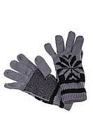 Перчатки  мужские теплые  254V004-3 (Серо-черный)