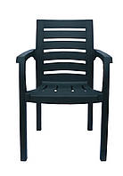 Пластиковое кресло для летнего кафе Жимолось темно-зеленый